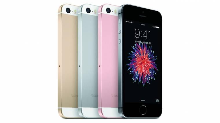 Hivatalos az apró és bivalyrős Apple iPhone SE kép