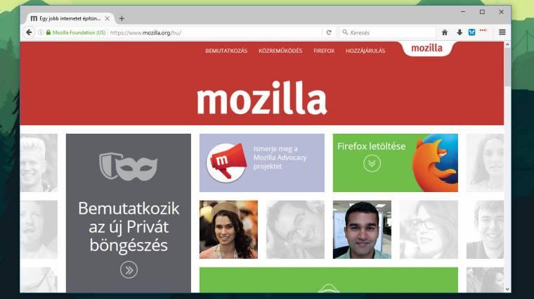 Telepíthető a Mozilla Firefox 45 kép