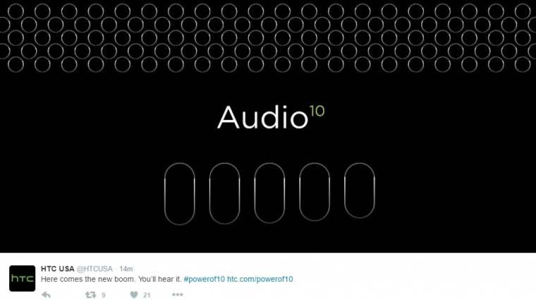 Nagyszerű hangzást ígér az HTC 10 kép
