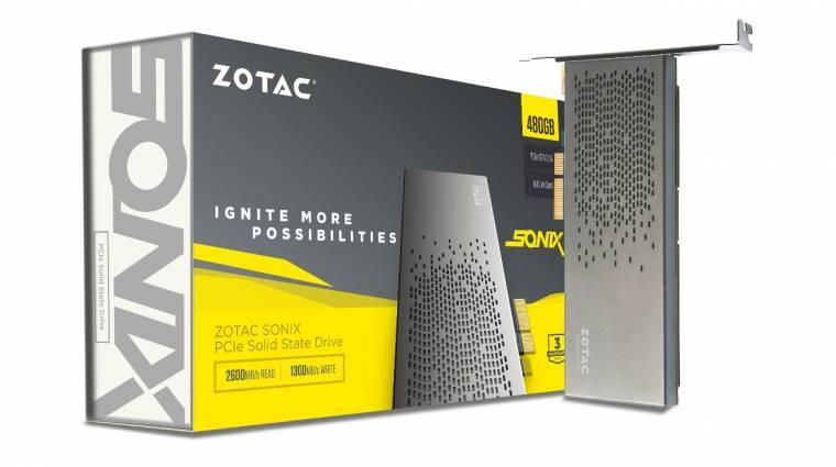 Beárazódott a ZOTAC brutálisan gyors SSD-je kép