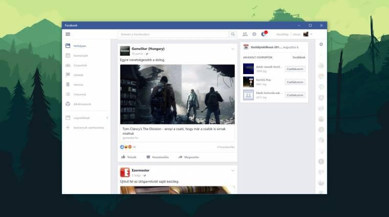 Itt a Windows 10-re szánt Facebook és Messenger kép