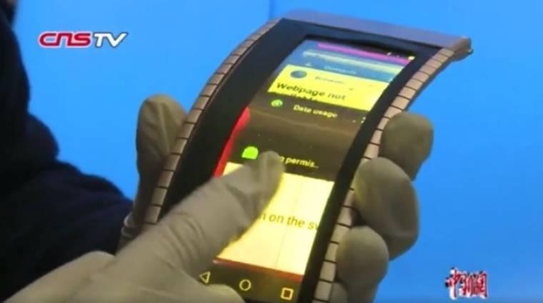 Kész az első működő hajlékony okostelefon kép