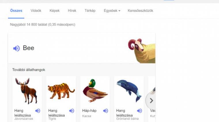 Állathangokat tanít a Google kép