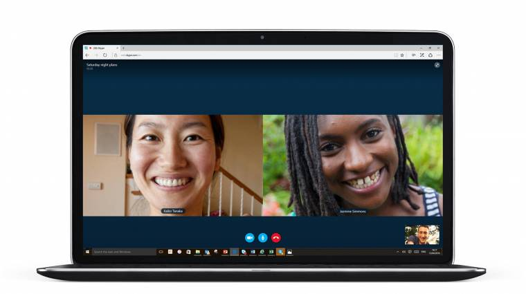 Plugin nélküli Skype videocsevegés az Edge böngészőben kép