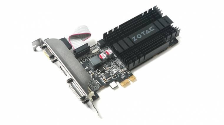 PCIE x1 felületű videokártyát dob piacra a Zotac kép