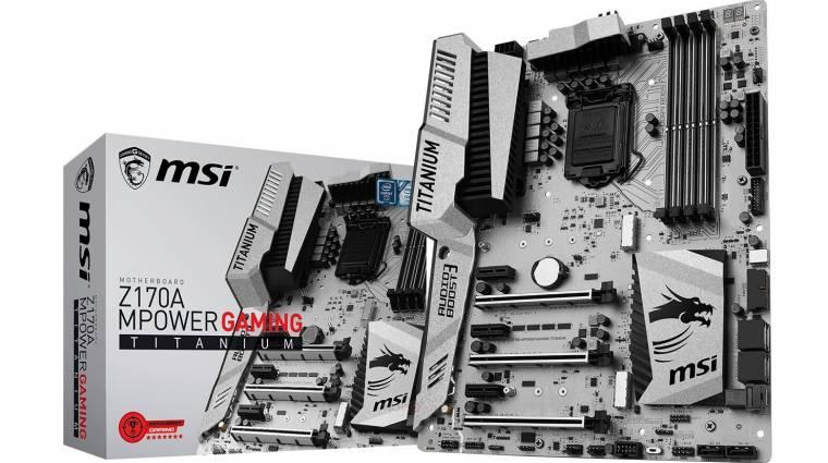 Ilyen lett az MSI Z170A MPower Gaming Titanium kép