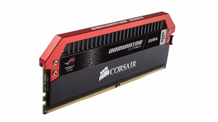 ROG szériás Dominator Platinum memória a Corsairtől kép