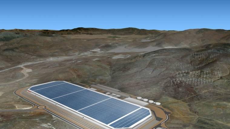 Ilyen a Tesla gigagyára kép