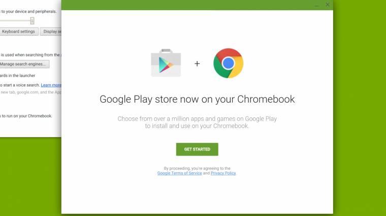 Chromebookokra megy a Google Play Áruház kép