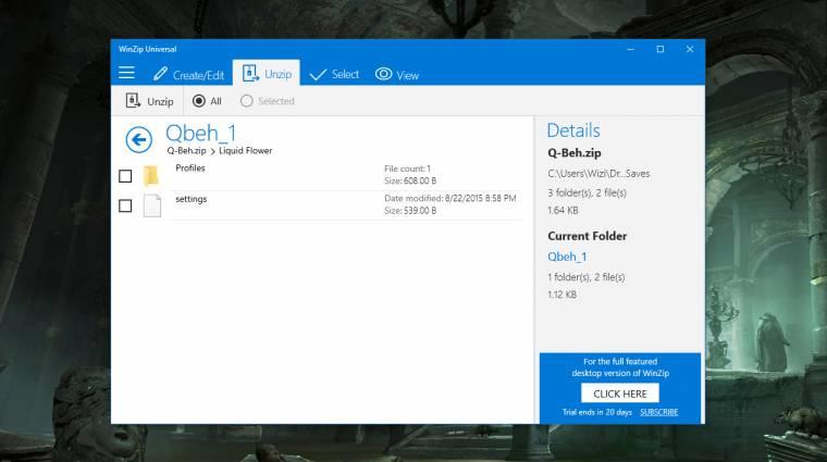 Megérkezett az univerzális WinZip alkalmazás kép
