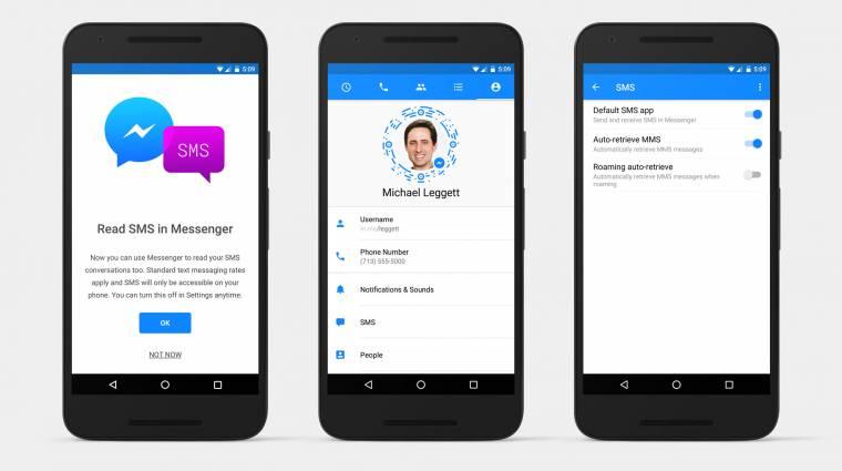 Már SMS-t is küld Androidon a Facebook Messenger kép