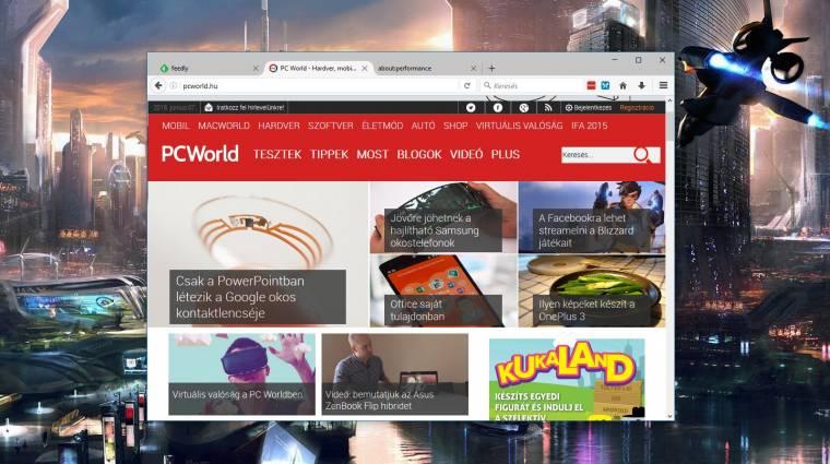 Telepíthető a Mozilla Firefox 47 kép