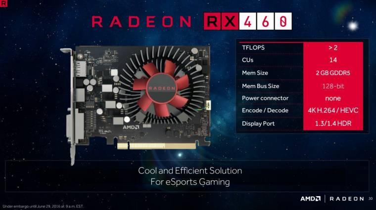 Radeon RX 460 és RX 470 specifikációk érkeztek kép