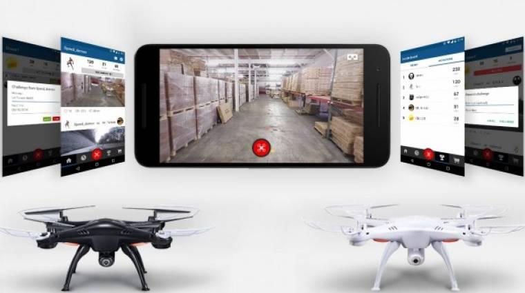 Óriási siker a VR-ben közvetített drónverseny kép