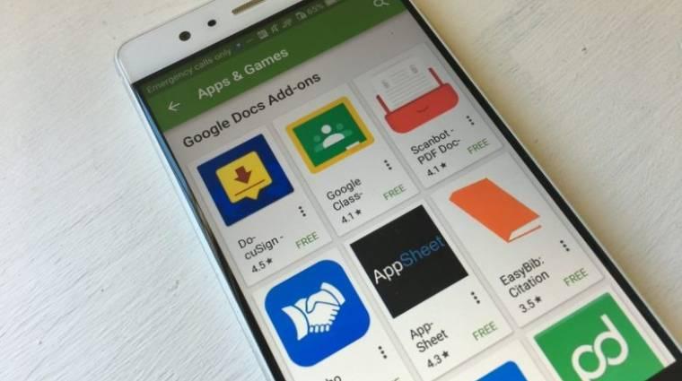 Kiegészítőket kapott az androidos Google Dokumentumok kép