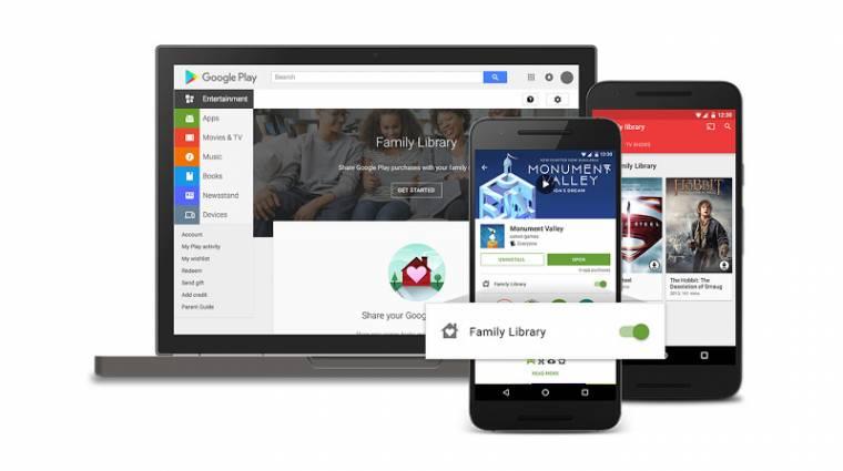 Hivatalos a Google Play családi megosztása kép