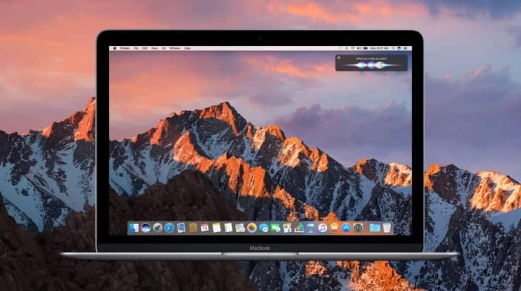 A macOS Sierra is kaphat sötét módot kép