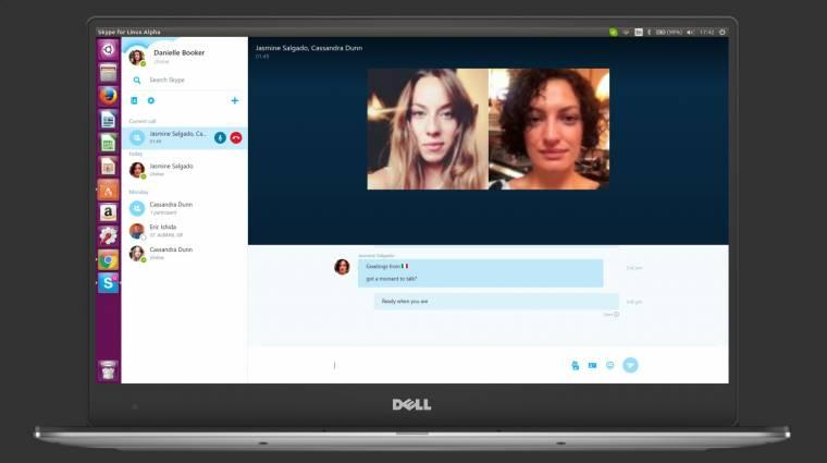 Tölthető a vadiúj Skype for Linux alfája kép