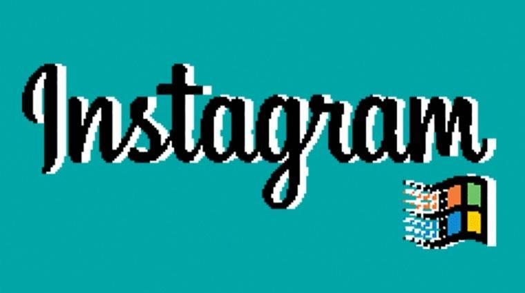Ilyen lenne az Instagram Windows 95-ön kép