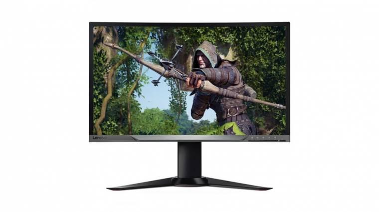 Hajlított és FreeSync-es a Lenovo gamer monitora kép