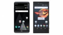 Képeken az LG V20 és a Sony Xperia X Compact kép