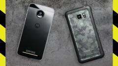 Moto Z Force vs. Galaxy S7 Active - a törésteszt kép