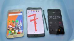Galaxy Note 7: így bírja a betont, a vizet, a kést és a kalapácsot kép