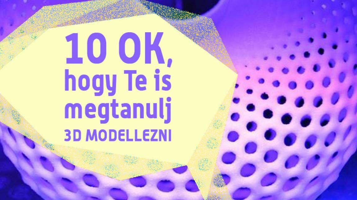 10 ok, hogy te is megtanulj 3D modellezni kép