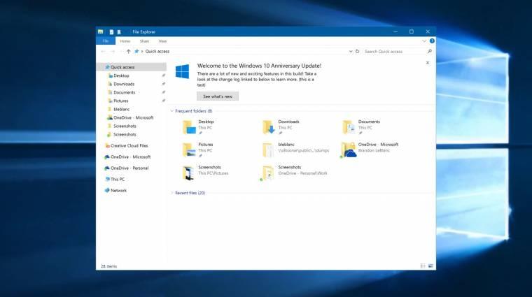 Telepíthető az első Windows 10 Redstone 2 előzetes kép