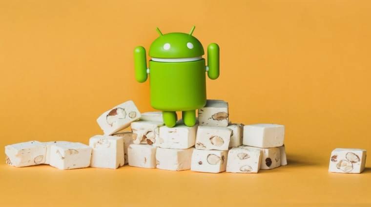 0,1 százalék alatt az Android Nougat kép