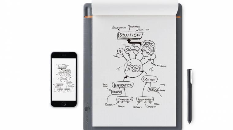 A Yoga Book felét jelenti a Wacom digitális jegyzettömbje kép