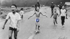 Pulitzer-díjas háborús fotót tiltott le a Facebook kép