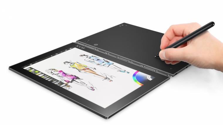 Szokatlan billentyűzettel hódít a Lenovo Yoga Book kép