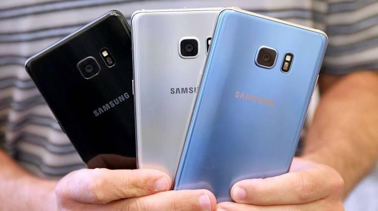 Tőzsdei mélyrepülésben a Samsung a Galaxy Note 7 miatt kép