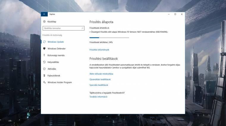 Újabb összegző frissítést kapott a Windows 10 kép