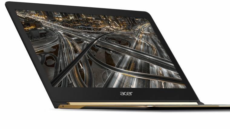 A világ legvékonyabb laptopját kínálja az Acer kép