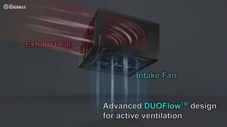 Két ventilátor került az Enermax új tápegységeibe kép