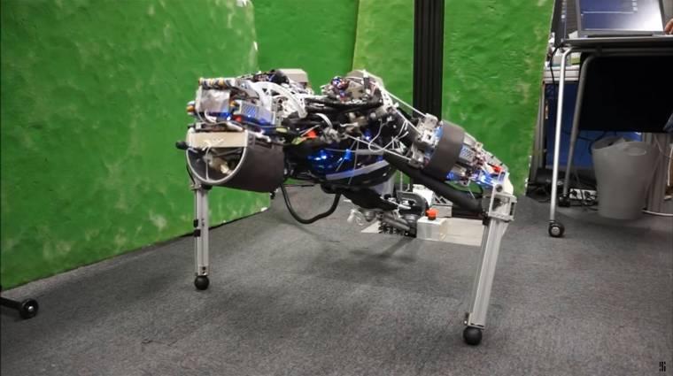 Izzadást mímelve hűti magát a humanoid robot kép