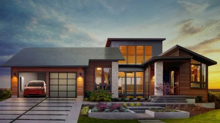 Bemutatkoztak a Tesla tetőcserepekbe épített napelemei kép