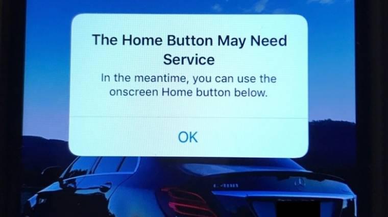 Ez történik, ha tönkremegy az iPhone 7 home gombja kép