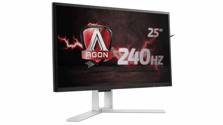 240 hertzes gamer monitorral újított az AOC kép