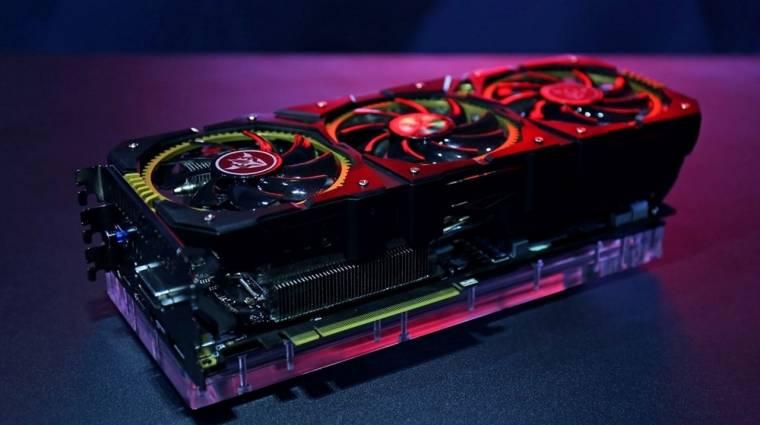 Négy kártyahelyet foglal a Colorful GTX 1080-asa kép