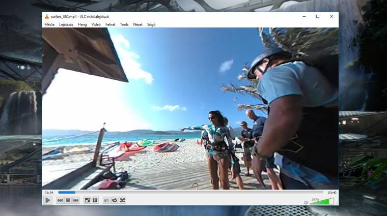 Tesztelhető VLC 360 videolejátszó előzetese kép