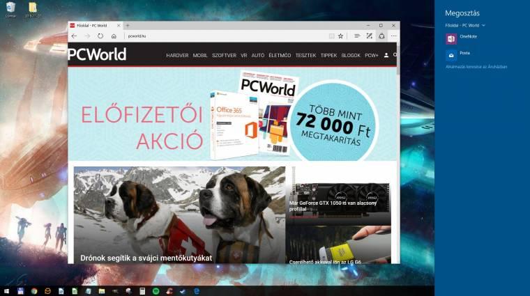 Megújulhat a Windows 10 megosztófelülete kép
