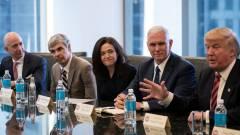 Ezért ültette így Trump a tech vezetőket kép