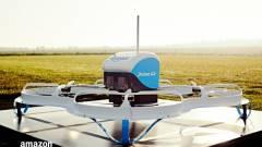Drónnal kézbesített csomagot az Amazon kép
