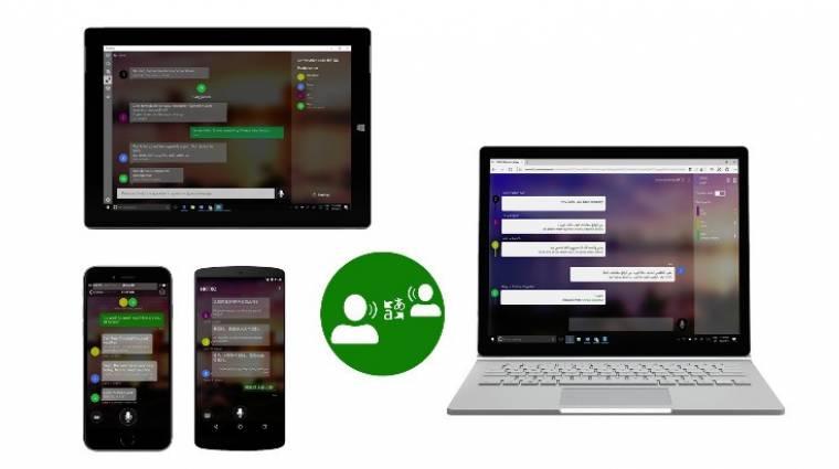 Okostelefonokon a Microsoft univerzális fordítója kép