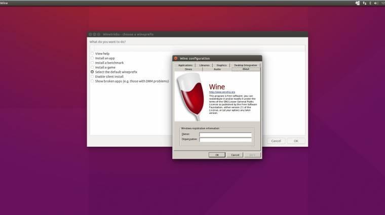 Elérhető a Wine 2.0 kép