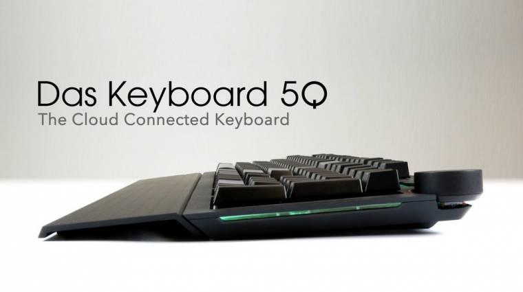 Háttérvilágítással értesít a Das Keyboard 5Q kép