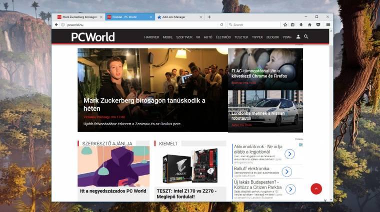 Két új gyári téma kerülhet a Mozilla Firefoxba kép